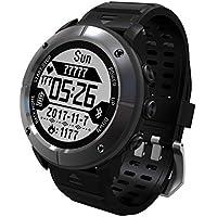 LoveOlvidoE 1.2 Pulgadas de Pantalla a Prueba de Agua Senderismo al Aire Libre Corriendo Reloj Inteligente Monitor de frecuencia cardíaca Reloj termómetro GPS Deporte
