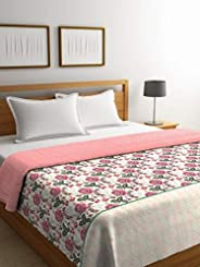 Portico Cadence 120 GSM POLYFILL 100% Cotton King Comforter -(Multicolor)224x274 cms