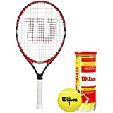 """[Sponsored]Wilson Racquet And Ball Tennis Kit (Roger Federer 23"""" Racquet For Age 7-8 Years + Championship Tennis Ball, Pack Of 3)"""