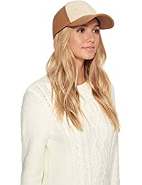 UGG Womens Curly Pile Leather Baseball Hat