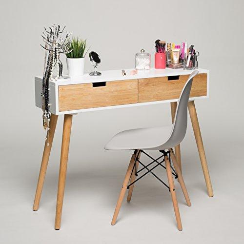 Konsolentisch-Holz-Wei-100-x-30-x-80-cm-Konsole-Beistelltisch-Schrnckchen-Kommode-Anrichte-Modern-Skandinavisch-Retro-Design-Look-NEU