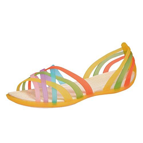 iiSport-Sandales Plates Femmes pour été nouvelle couleur de bonbons chaussures femme confortable Jaune
