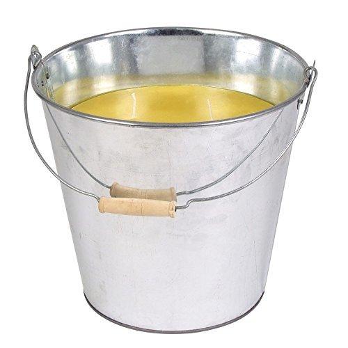 XXL Citronella-Kerze im Zinkeimer Gelb Anti-Mücken Duftkerze Outdoor Dekoeimer