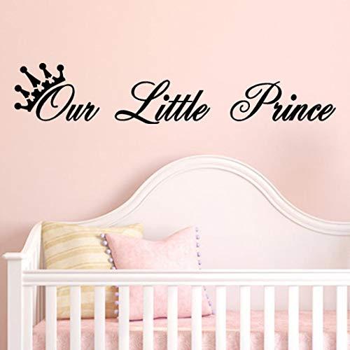 Hansee Our Little Prince Wall Decal Aufkleber Wand Kunst Dekor für Kinder Zimmer Baby-Dusche-Dekor (Baby-dusche Baby Prince)