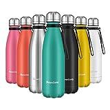 Newdora Bottiglia Acqua in Acciaio Inox 500ml, Senza BPA, Borraccia Termica Isolamento Sottovuoto a...