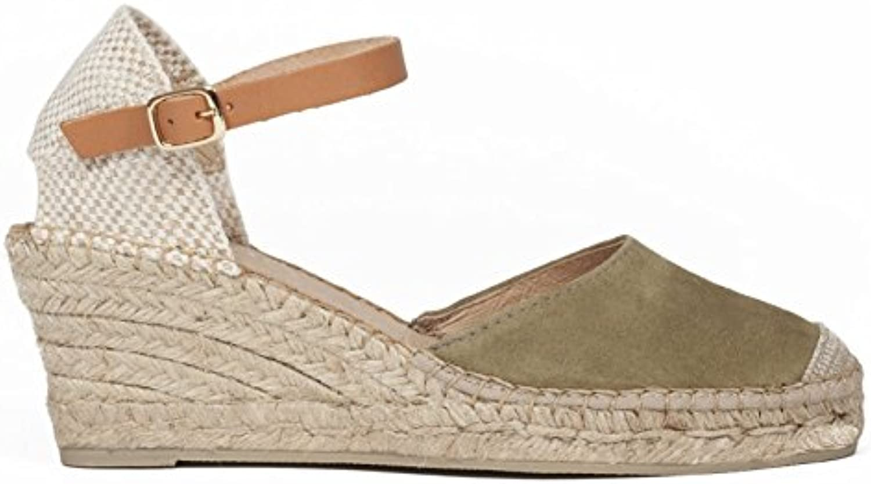 Sandalia Esparto Sal Verde Kaki  Zapatos de moda en línea Obtenga el mejor descuento de venta caliente-Descuento más grande