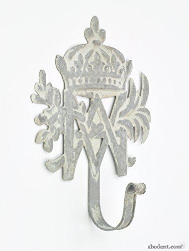 abodent.com Große Krone Und Motiv Grau Metall Kleiderhaken Wand befestigte/Türhaken -