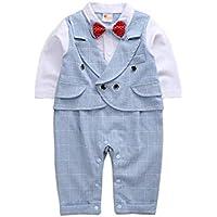 77886700dd Longra Baby Jungen Bekleidungssets Jungen Gentleman Hochzeit Anzüge  Babyanzug Jungen Anzug Weste + Lange Hosen +