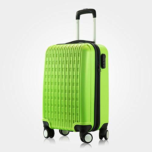 XIEPEI 2019 Neue ABS Reißverschluss Trolley Koffer Studentenkoffer hellgrün 24 Zoll