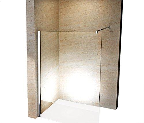 Duschabtrennung Walk-In Nano Echtglas EX101 - Klarglas - Breite wählbar, Breite Walk-In:1500mm
