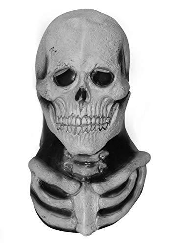 Escapade Erwachsene Skelett Totenkopf Maske mit Brust Horror Halloween Kostüm Zubehör