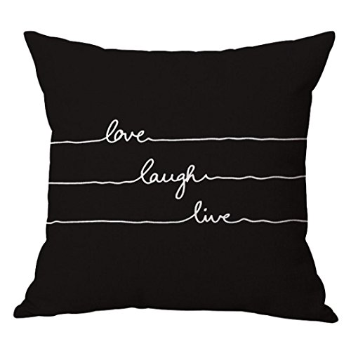 Ba Zha Hei Kissenbezüge Kissenhülle 45cmX45cm Mode Schwarz Weiß Stil Quadrat Pillowcase...