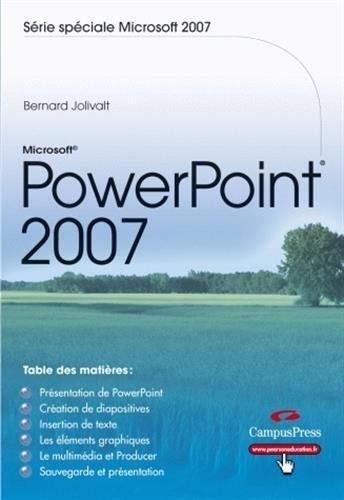 Powerpoint 2007 par Bernard Jolivalt