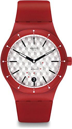 Swatch Reloj Digital para Unisex de Automático con Correa en Silicona SUTR403