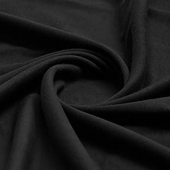 Plain Black 100 Cotton Interlock Double Jersey Fabric
