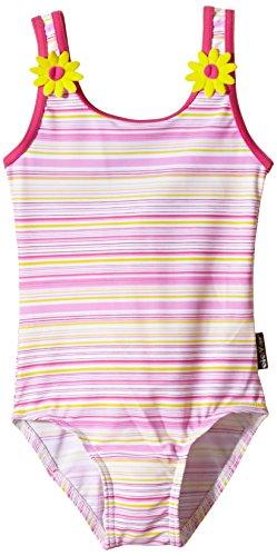 eleMar Mädchen Badeanzug, Pink-Gelb-Bunt, 104, 4-026-10B