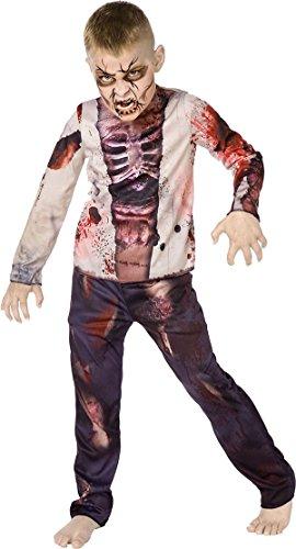 Kinder Halloween Fancy Club Party Buch, Woche Tag Jungen Zombie 3D Komplettes Kostüm UK