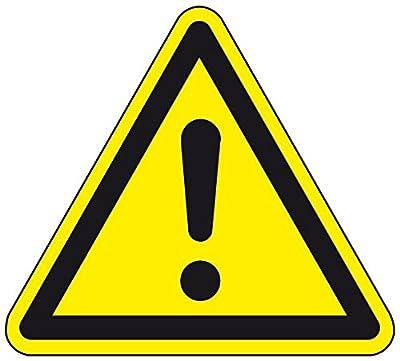LEMAX® Warnschild Allgemeines Warnzeichen, ASR/ISO, Kunststoff, SL 200mm