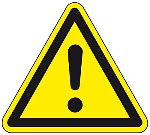 LEMAX® Warnschild Allgemeines Warnzeichen, ASR/ISO, Folie, selbstklebend, SL 100mm