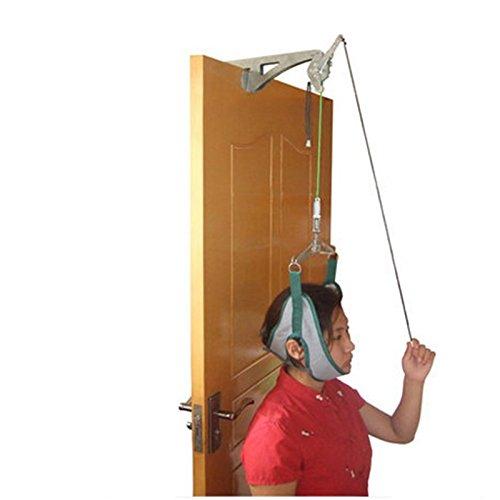 Über Tür-Übung (funwill Cervical Traction Gerät, über der Tür Zugmechanik, Halskrause Einheit für Hals Schulter Schmerzen Bandage Relief Kopf Home)