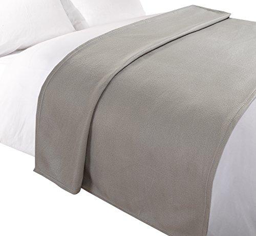 Tony's textiles morbidissima coperta in pile - per divano/poltrona - grigio