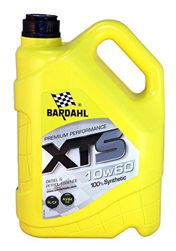 BARDAHL XTS 10W60 olio motore 100% sintetico & benzina, Diesel 5L