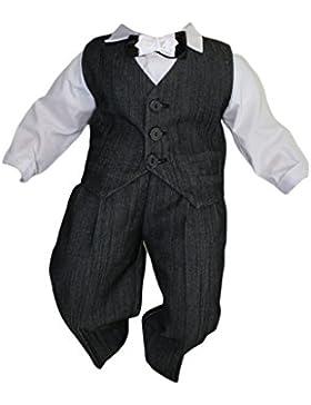 Taufanzug Baby Junge Kinder Kind Taufe Anzug Hochzeit Festanzug, 4tlg, K11G