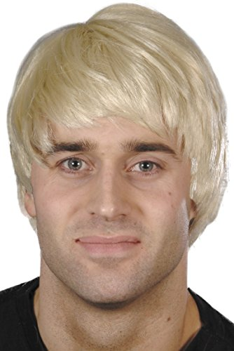 Smiffys, Herren Kerl Perücke, One Size, Blond, (Blonde Perücken Männlich)