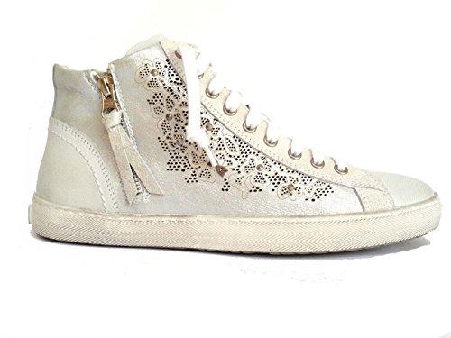 Nero Giardini sneakers alte da donna in pelle col. Bianco, num. 37