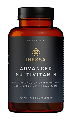 Multivitamin from Inessa Wellness | Vitaminic Complex against Fatigue with Coenzyme q10 Antioxidant, Vitamins A, B, C, D, E, K and Minerals | Vegan Complement without Gluten or Colorants