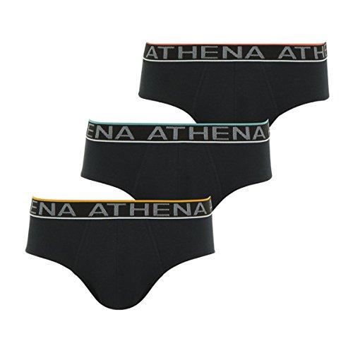 Athena Herren Unterhose 3er Pack Easy Chic Noir (Noir/Noir/Noir 0800)