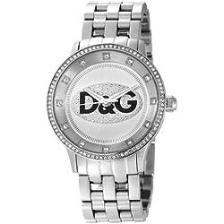 Dolce & Gabbana DW0145 Women's Analog Quartz Watch with Silver Stainless Steel Bracelet