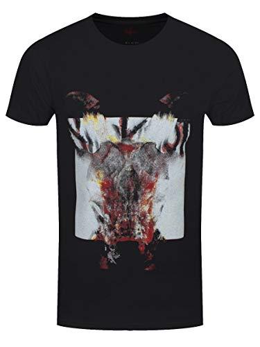 Slipknot Herren T-Shirt Devil Single Logo Blur schwarz