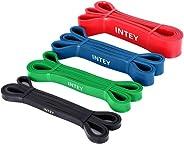 INTEY Bandas de Resistencia, 4pcs Bandas Elasticas de Fitness, de Látex Natural, para Entrenamiento de Fuerza,
