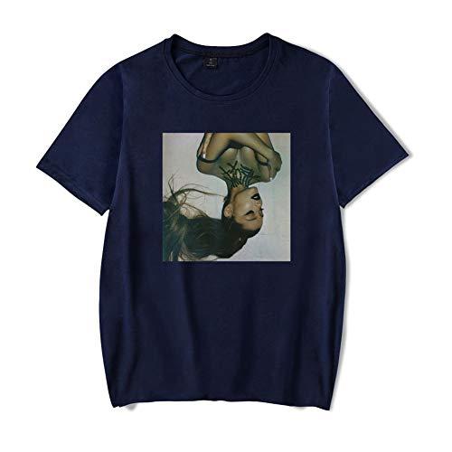 SJZV Ariana Grande Unisex 3D Pattern Druckten Sommer-beiläufige Kurze Hülsen-T-Shirts T-Stücke,Blue,XS -