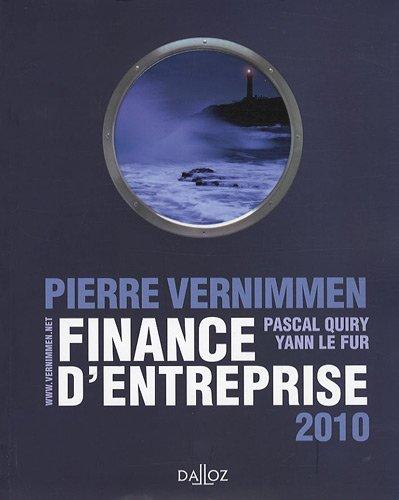 Finance d'entreprises 2010