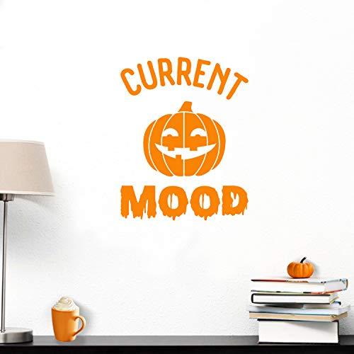Wandtattoo aus Vinyl - Aktuelle Stimmung Kürbis - 76,2 x 58,4 cm - Halloween-Dekoration Aufkleber - Kinder Teenager Erwachsene Innen Außen Wand Fenster Wohnzimmer Büro Decor 30