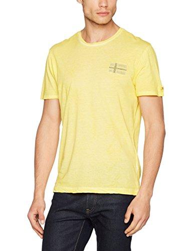 Napapijri Herren T-Shirt Sneek Summer Yellow Gelb (Summer Yellow Y66)