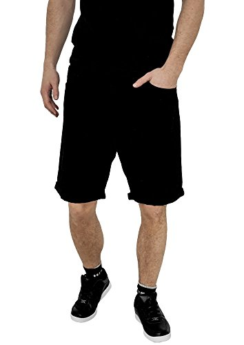 Fitted Denim Shorts Urban Classics Streetwear Pantaloncino Uomo blackraw