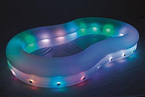 Benelando Gartenpool mit LED Beleuchtung und Lichteffekten