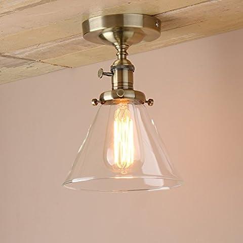 Pathson Industrial Vintage Modern Edison Flush Mount Switch Ceiling Lamp