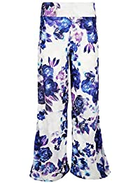 Fashion Star Women Floral Flared Baggy Loose Pants Leggings