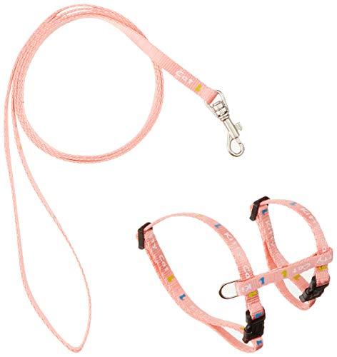 Trixie 4181,set di pettorina e guinzaglio in nylon per gattini o gatti di piccole dimensioni, collo da 21a33cm x 8mm [Colori Assortiti]