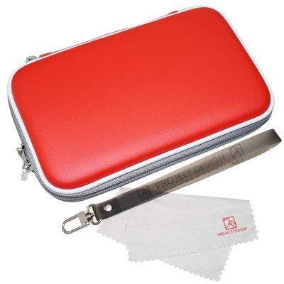 Tasche, Case für den Nintendo 3DS XL, DSi XL, New Nintendo 3DS, 3DS & DSi in Rot