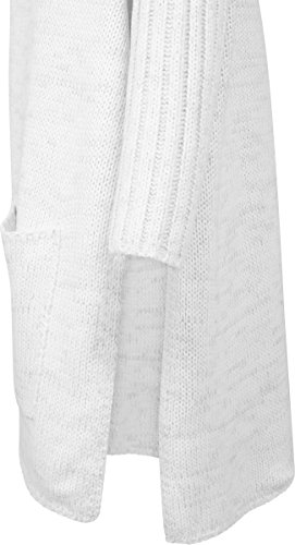 Urban Classics Damen Strickjacke Ladies Oversized Cardigan Mehrfarbig (Wht/Gry 230)