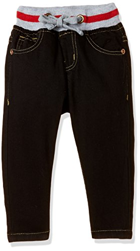 Donuts Baby Boys' Straight Regular Fit Cotton Jeans (272235145 BLACK 12M)