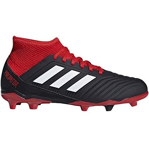 adidas Unisex-Kinder Predator 18.3 FG Fußballschuhe, schwarz/rot/weiß, 36 2/3 EU -