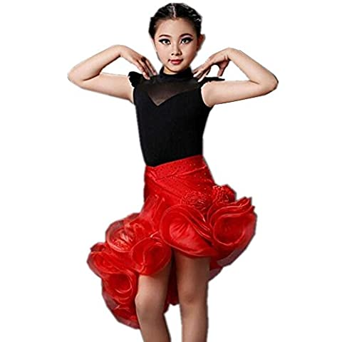 Wgwioo Costumes De Danse Latine Pour Enfants Costume Jupe Veste . Picture Color . S