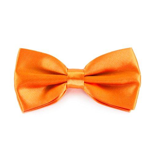 Fliege Schleife - Größe verstellbar (Orange) (Fliege Orange)