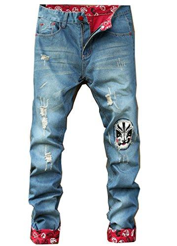 Bold Manner Herren Jeanshose Style 2-Blue